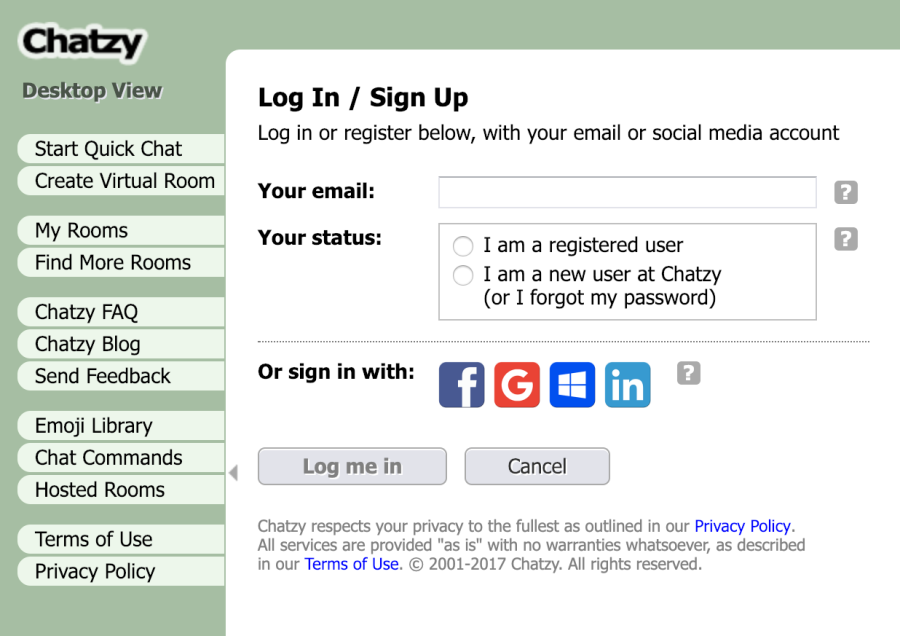 How to create a virtual room on Chatzy
